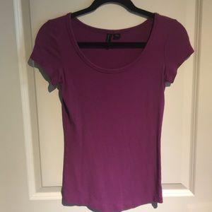 Cynthia Rowley Purple T-Shirt - Size Small